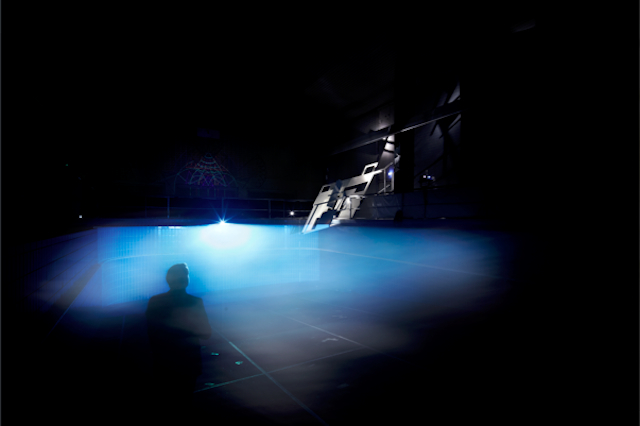 Image: Tanja Milbourne and Ben Milbourne,Just Like Swimming, 2013, Stattbad, Wedding, Germany.Fog, digital projection, variable dimensions. Courtesy the artists.