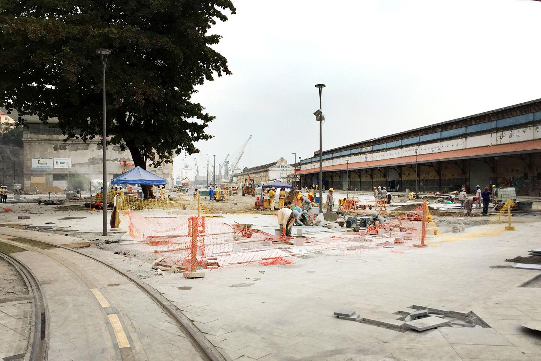 Construction site at Rio de Janeiro port area