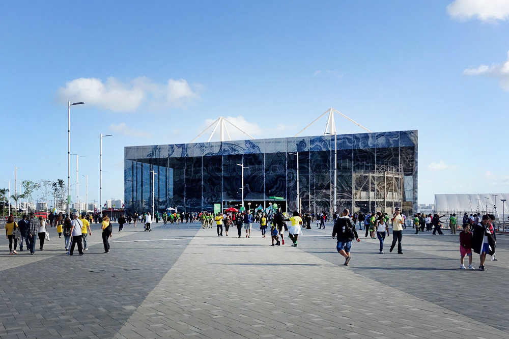 The Aquatic Centre will be dismantled and provides the structure for two swimming pools