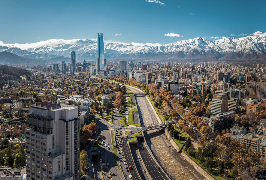 Santiago de Chile   The capital city at the feet of the Andes