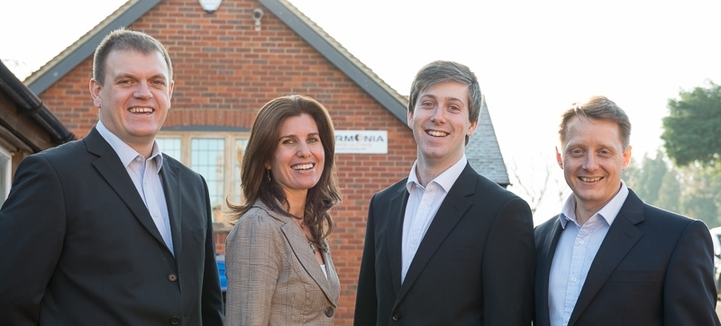 The heart of the Harmonia Consulting team: Ross, Vanessa, Sam and Alistair