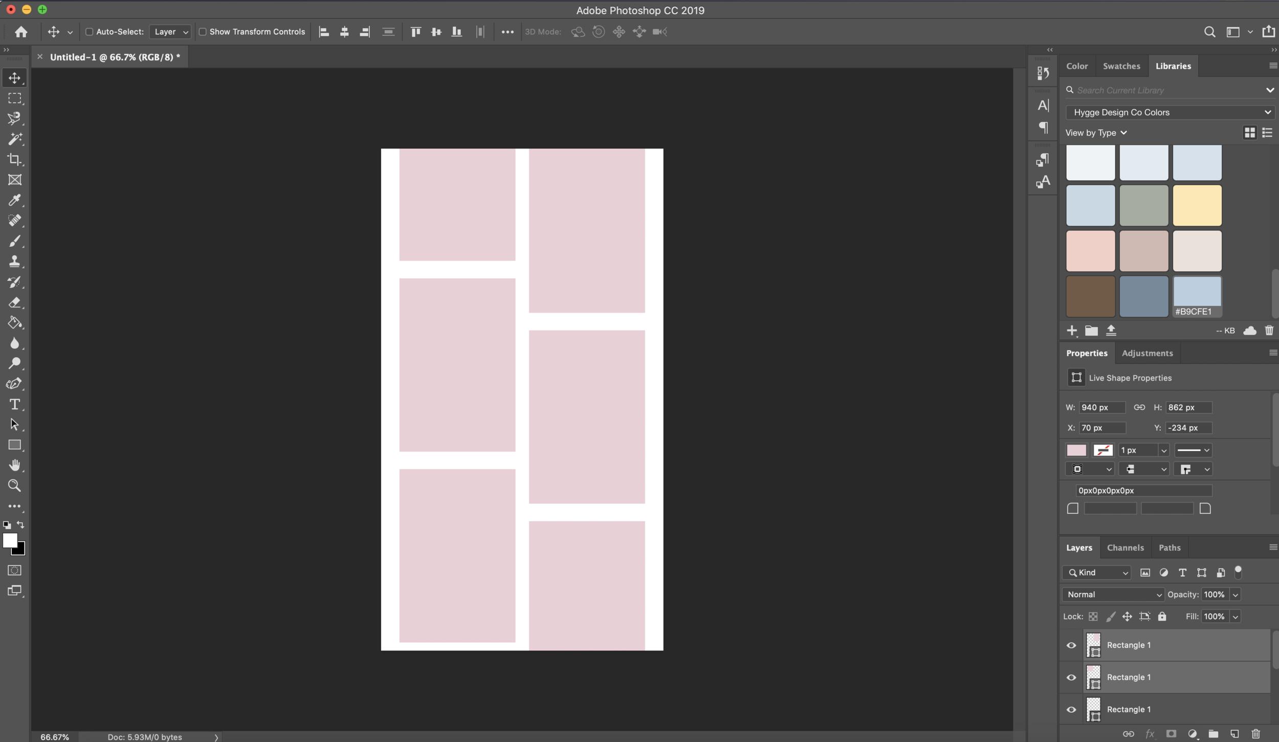 Photoshop tutorial wireframe