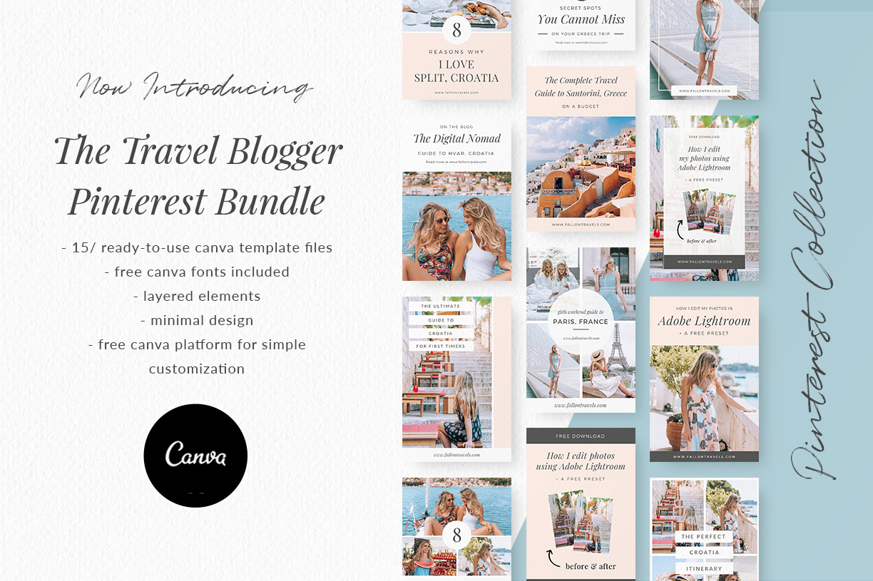 Travel Blogger Pinterest Bundle Fallon Gerst