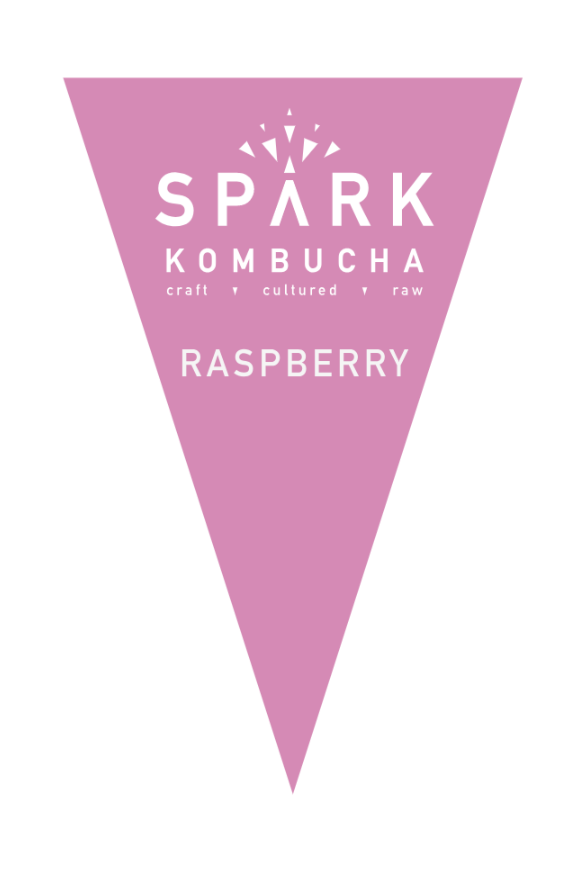 Filtered water, organic white tea, organic black tea, organic kombucha culture, organic cane sugar, and organic raspberry infusion.