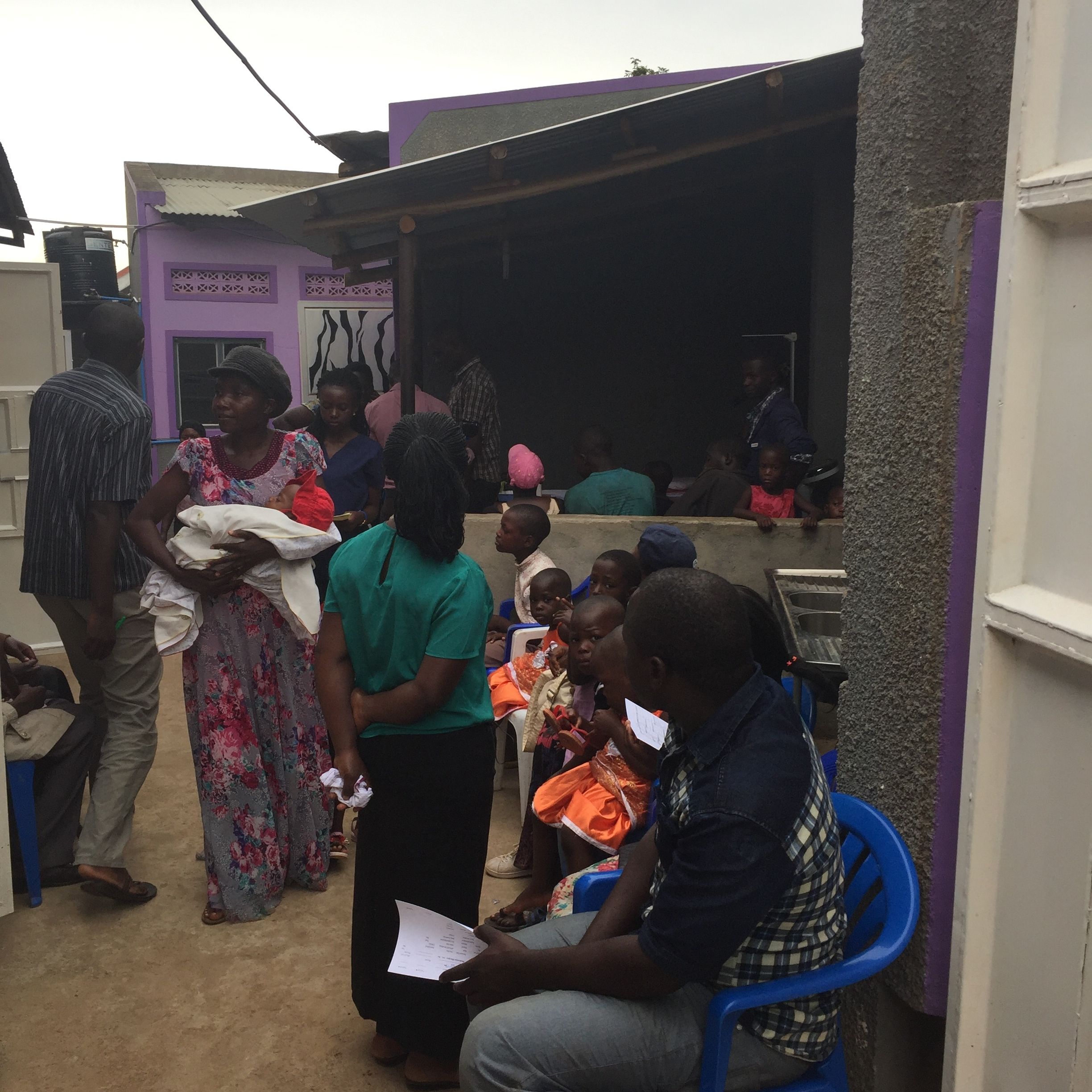 ...treated 1,600 people at the house of joy clinic -