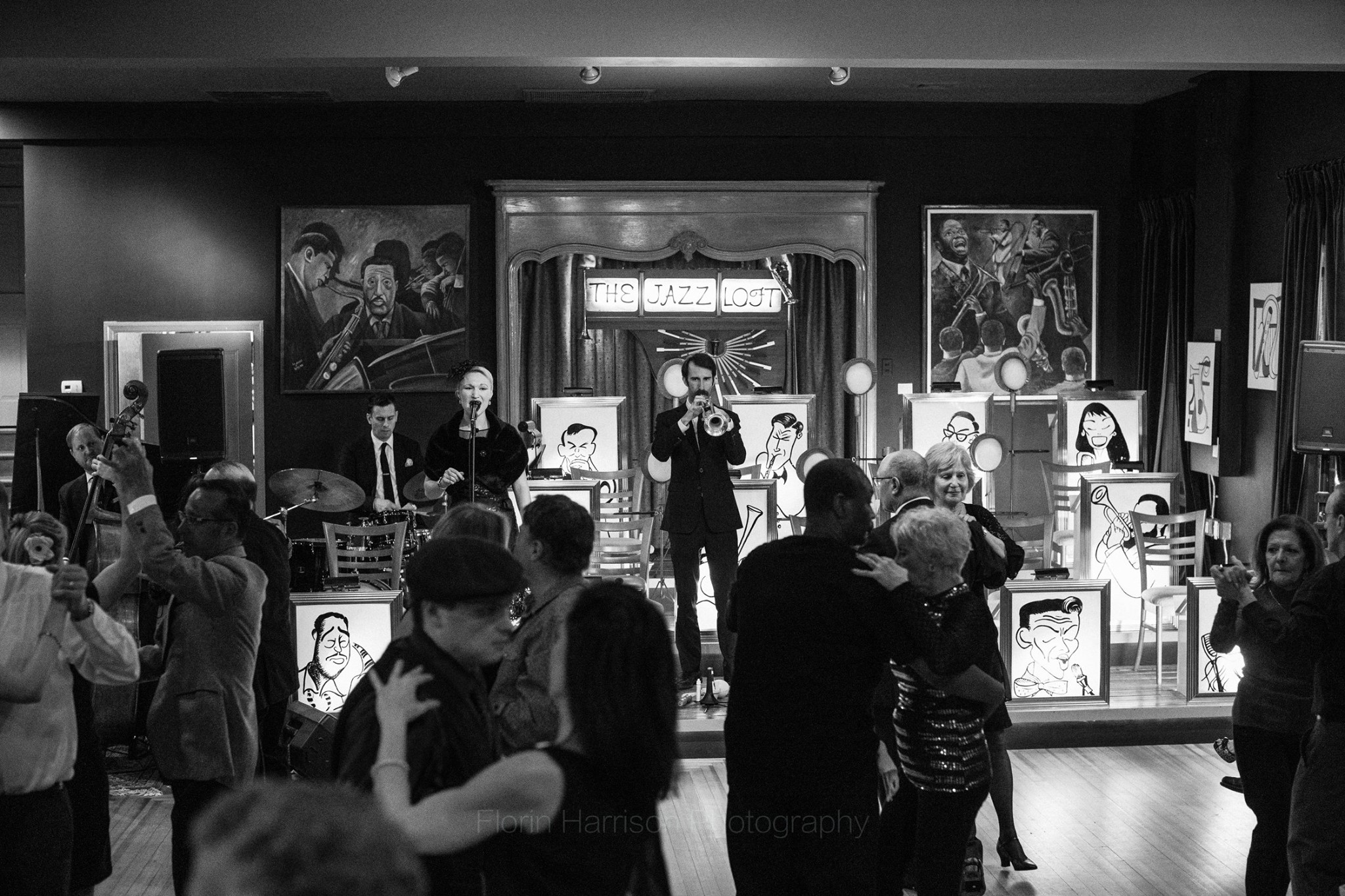 Jazz Quintet for swing dance party -  Lighthouse Photography  at the  Jazz Loft