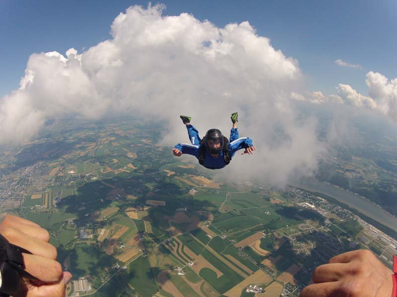iad maytown sport parachute club learn to skydive solo jump