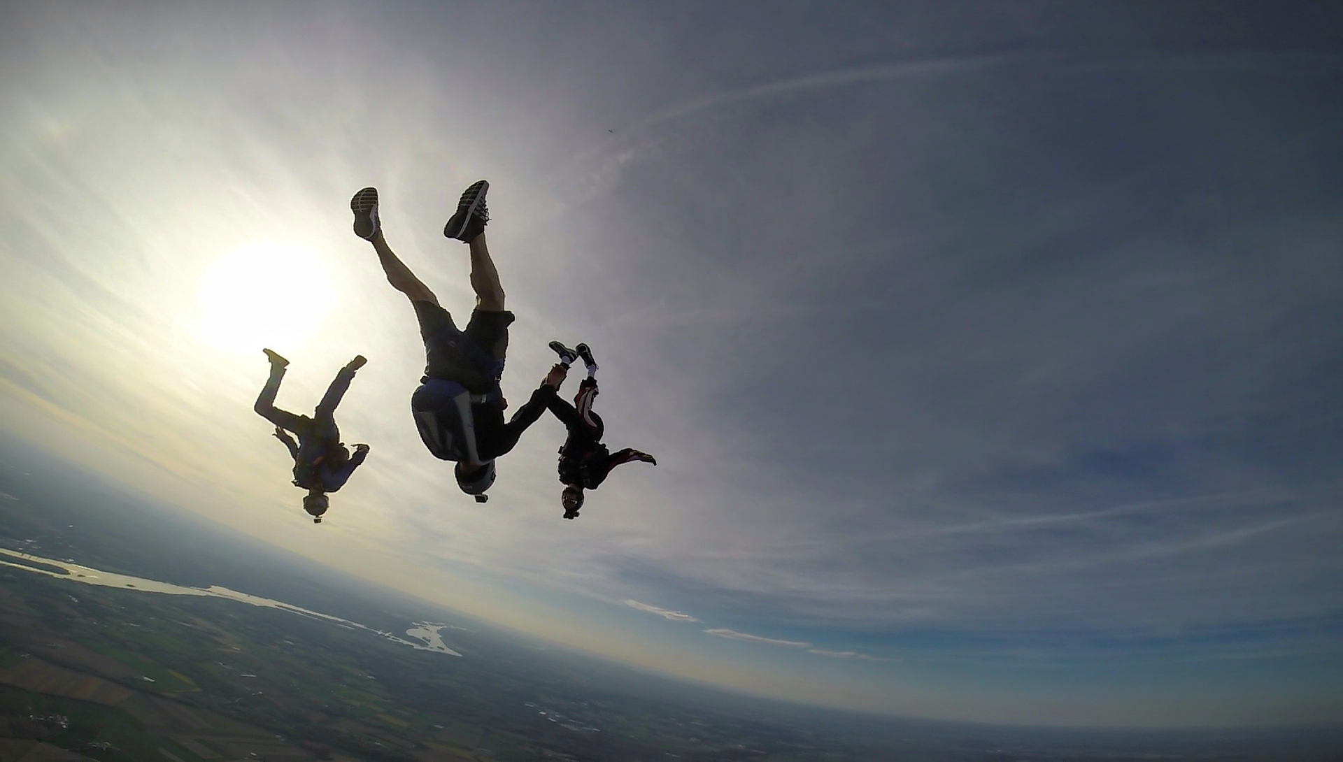 experienced skydivers at maytown sport parachute club