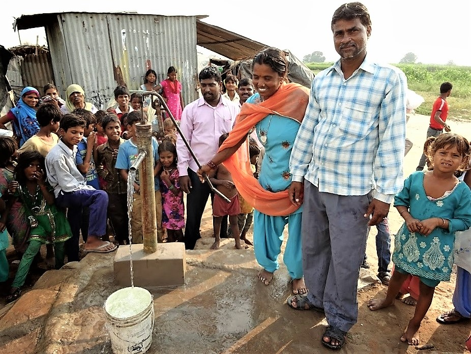 First water from a new well.