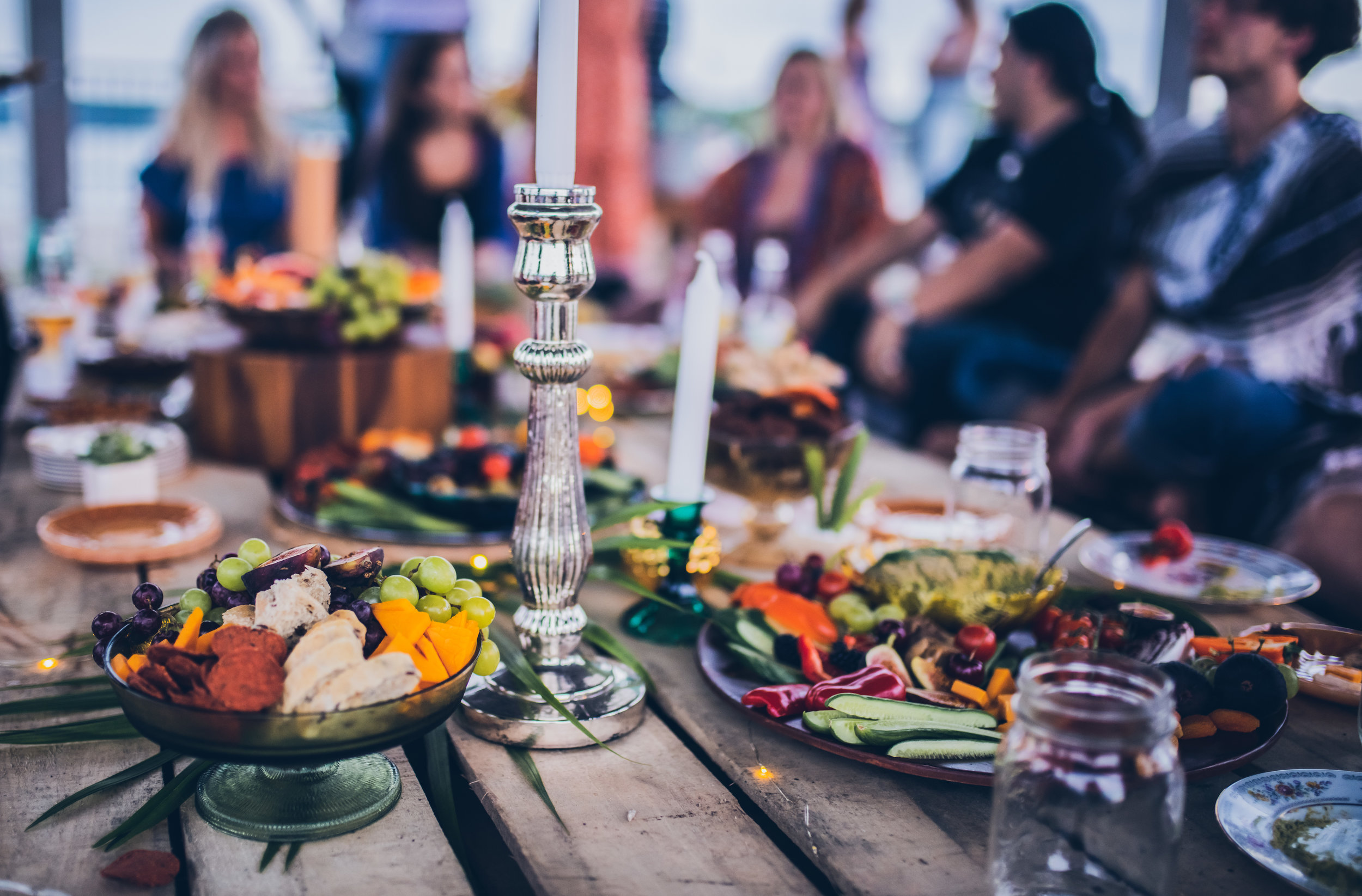 Our first gathering! Featuring a spread of all of our platters and an intimate picnic set up.