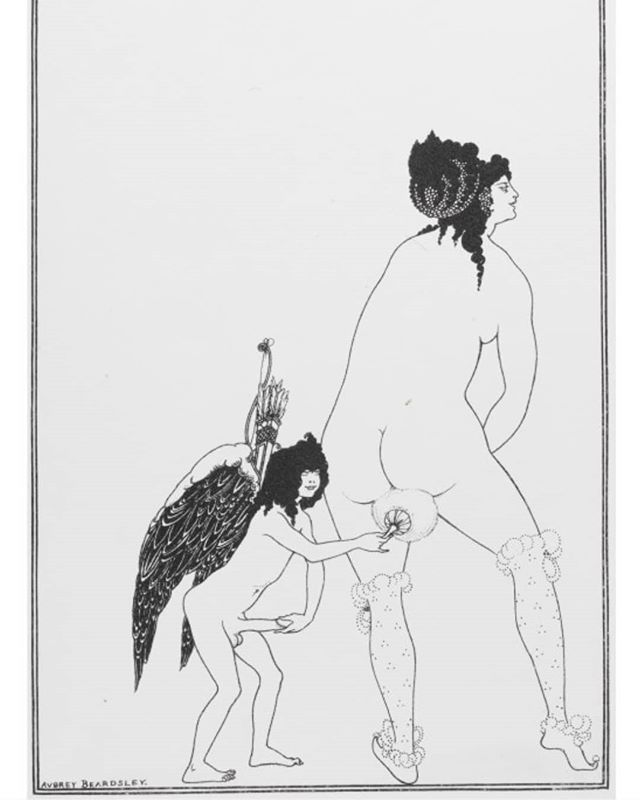 Collotype print after Aubrey Beardsley (1872-98), 'The Toilet of Lampito', illustration to The Lysistrata of Aristophanes, 1896.