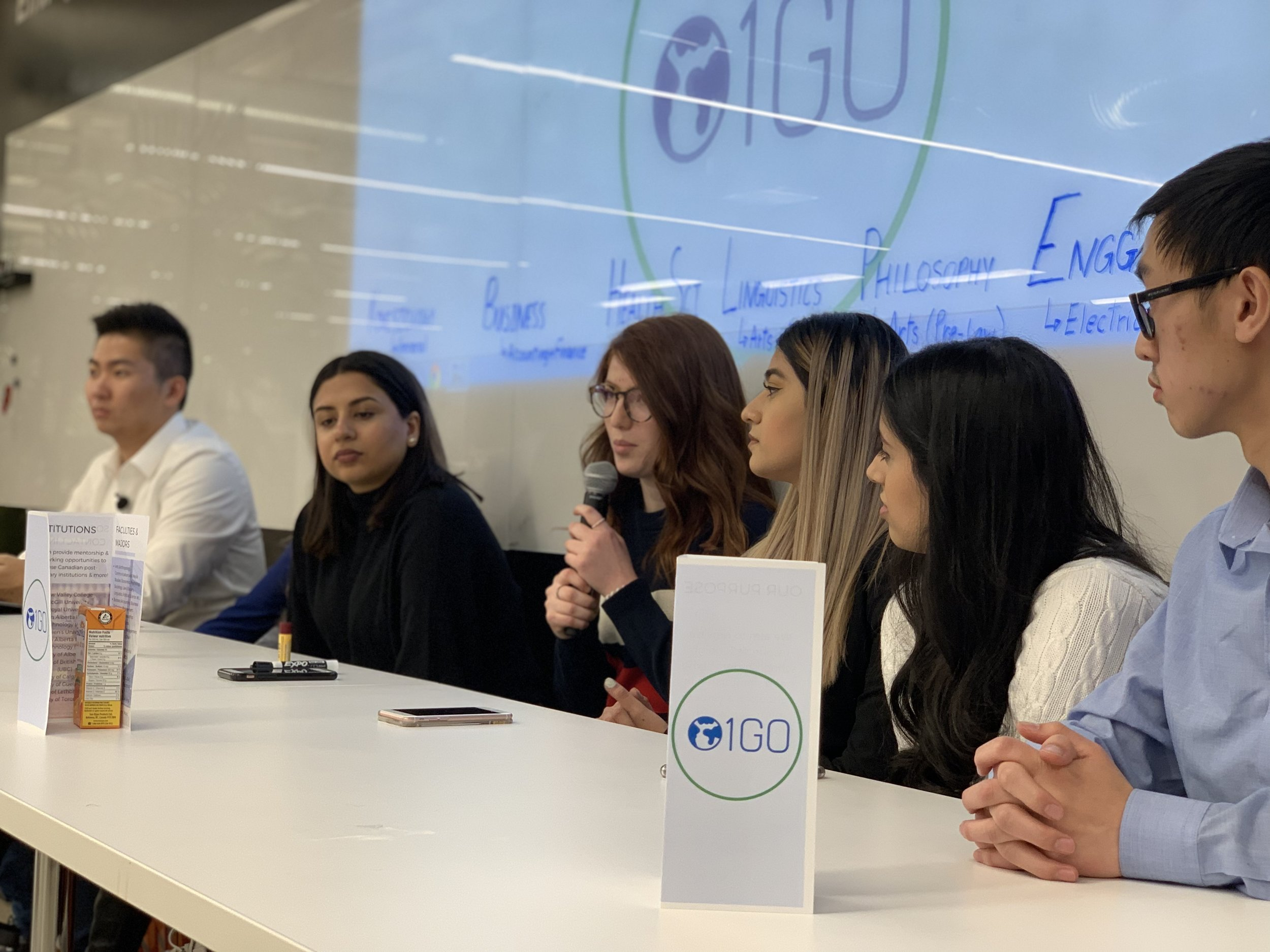 Panel of mentors at our networking event on March 23, 2018.