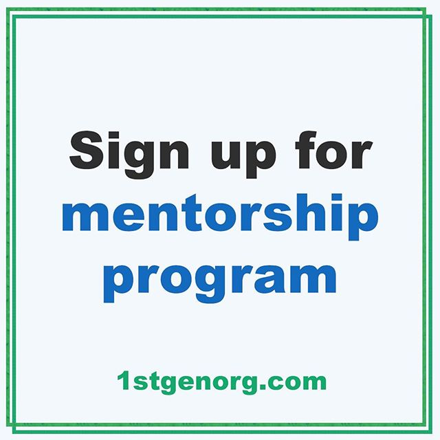 Link to sign up for our mentorship program in bio!