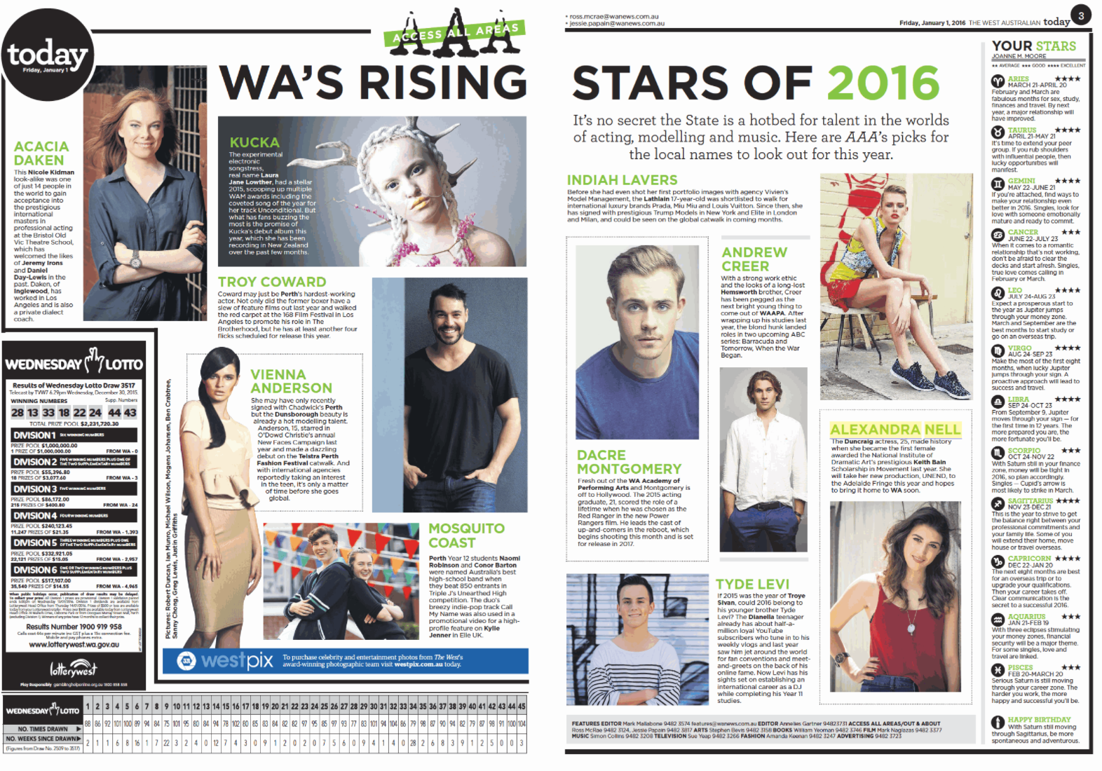 WA's Rising Stars of 2016 Today The Weekend West (2016)