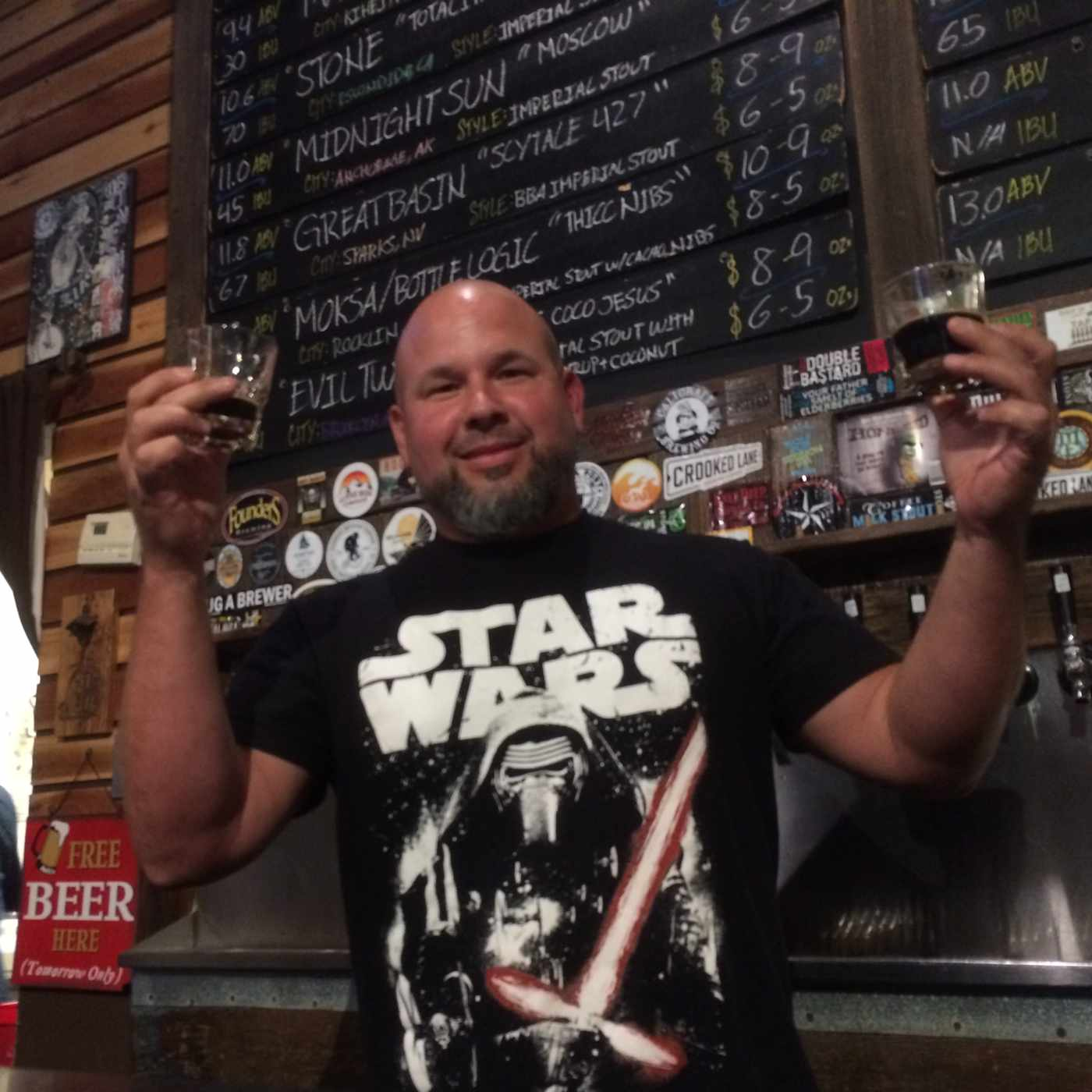 JJ Anderson brought 16 stouts to his Boneshakers brew pub for the 2018 Sacramento Beer Week festivities. Photo by Bob Moffitt