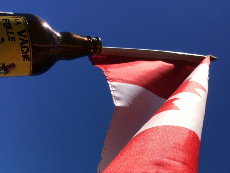 Pour some La Vache Folle into a glass and pure Canada comes out. Photo by Bob Moffitt