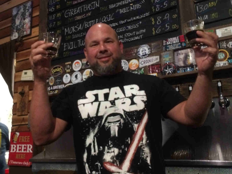 """The Force"" in the Sacramento Beer Week galaxy must have led us here...to the Yoda of Boneshakers. ""Eight stouts try you must..."" Photo by Bob Moffitt"