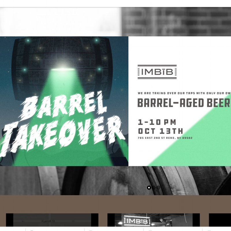 """Imbib's annual """"Barrel Takeover"""" sounds ominous until you take one over. Courtesy imbibreno.com"""