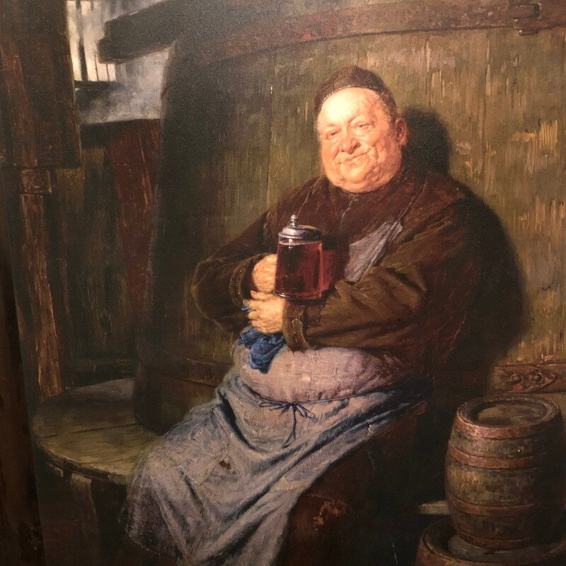 Monks made beer as early as the sixth century. They were obviously on to something. Painting by Eduard von Grützner