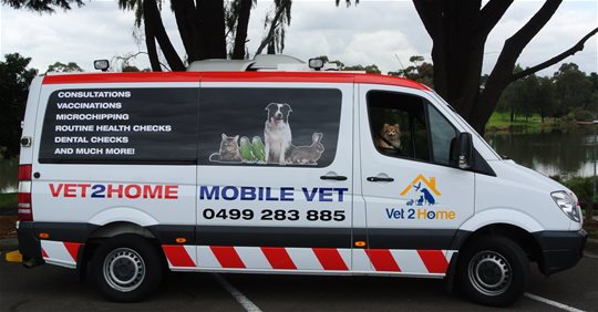 Vet 2 Home - Our sister company Vet 2 Home is a mobile veterinary service that provides a high standard of veterinary care to the northern suburbs of Melbourne, all in the comfort of your own home.