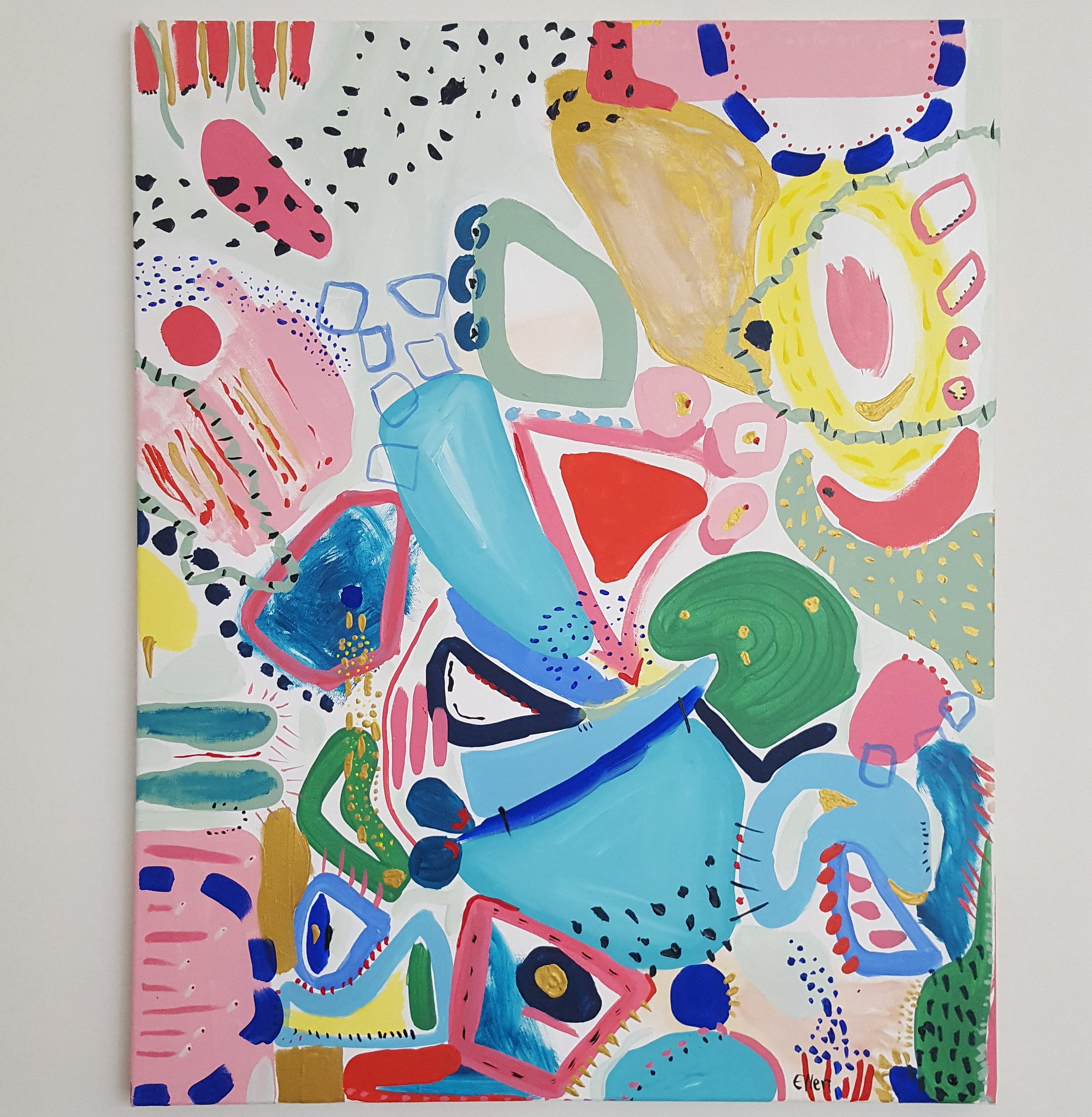 EXHIBITING AT CAMBERWELL ART SHOW JUNE 2019 'Seeing Colours' Acrylic on Canvas, approx 600mm x 740mm $340