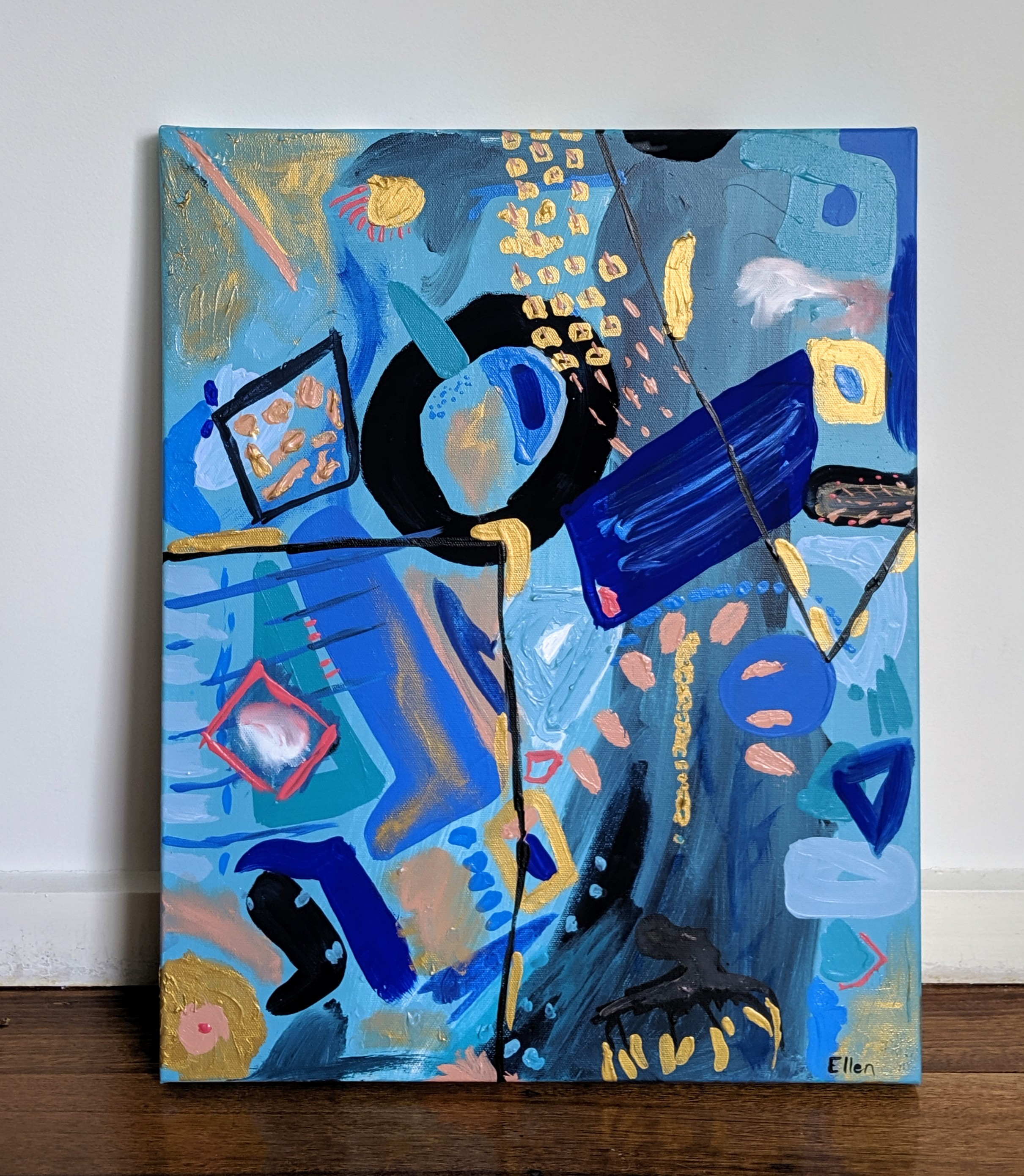 All the Blues  Acrylic on Canvas, 400mm x 510mm $200