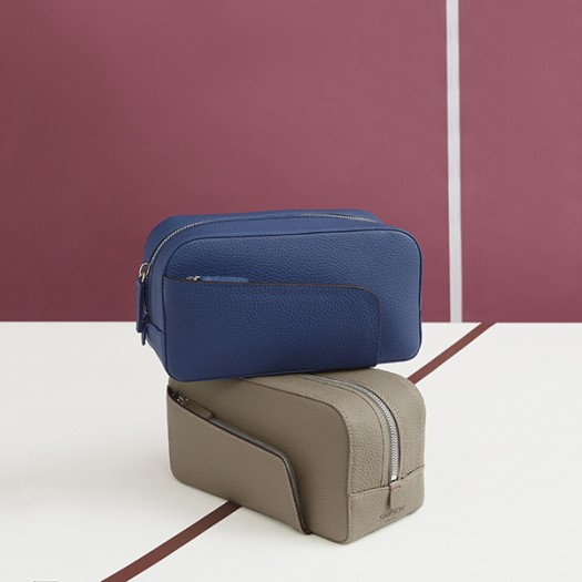 From Top to Bottom:   Ladies Vanity Pouch in Cobalt Blue (FG00135830)  Ladies Vanity Pouch in Taupe (FG00135842)