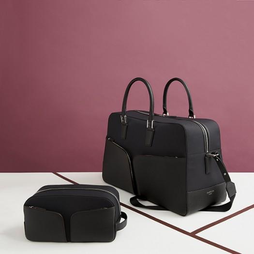 Left to Right:  Washbag in Black (FG00735701)  48 Hour Weekender Bag (FG00736301)