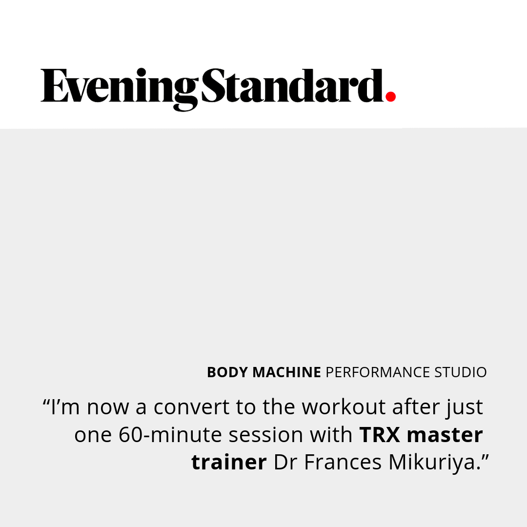 Evening Standard Review of Body Machine Performance Studio TRX Class Kensington London