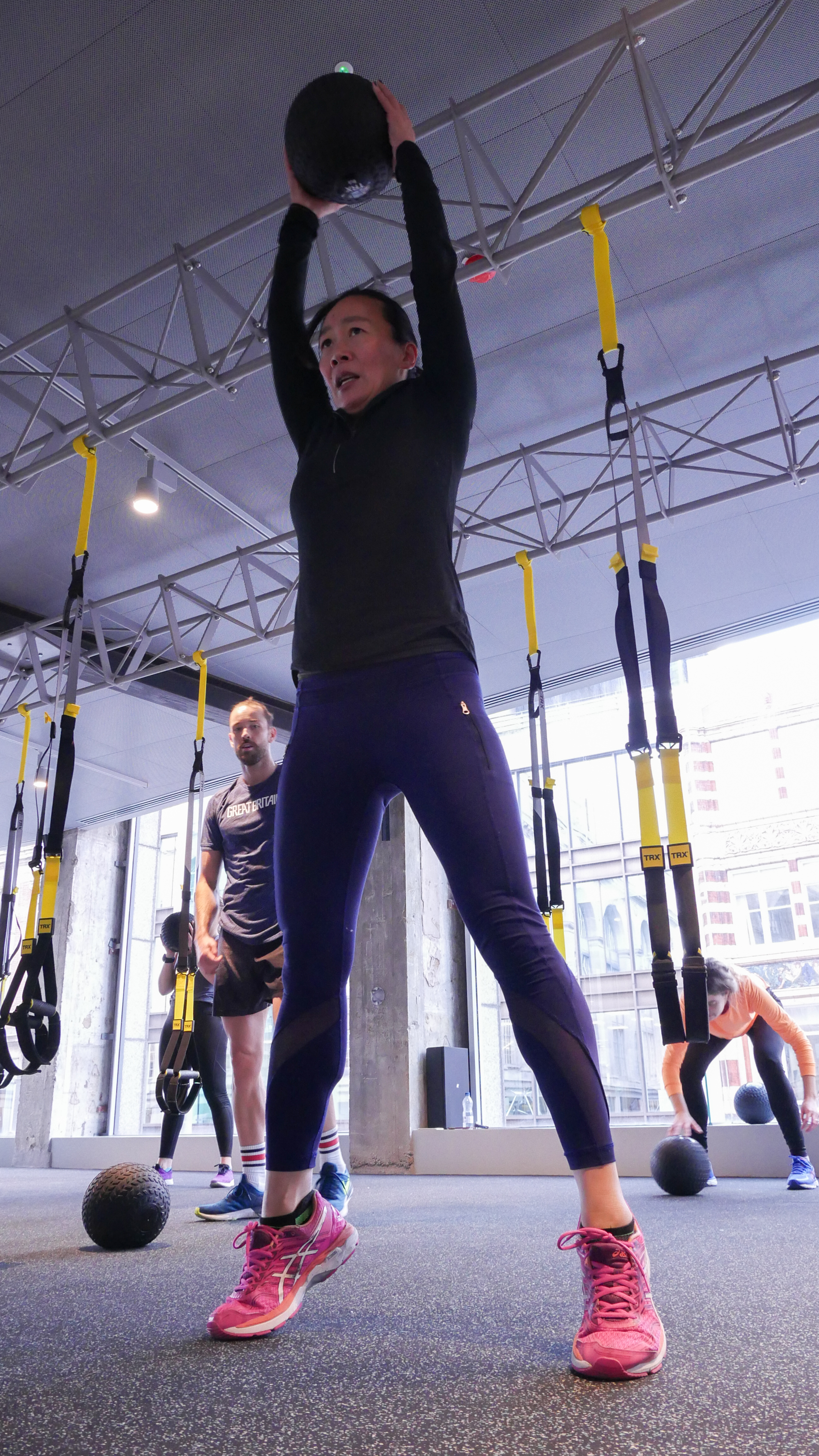 TRX Power - This is a high energy and fun class incorporating different modalities in addition to the TRX suspension trainer such as slam balls, kettle bells, battle ropes and the Rip Trainer.You will be challenged by the high intensity and high calorie burning cardio workout structured around repeated sets of the various modalities.Be ready to sweat!