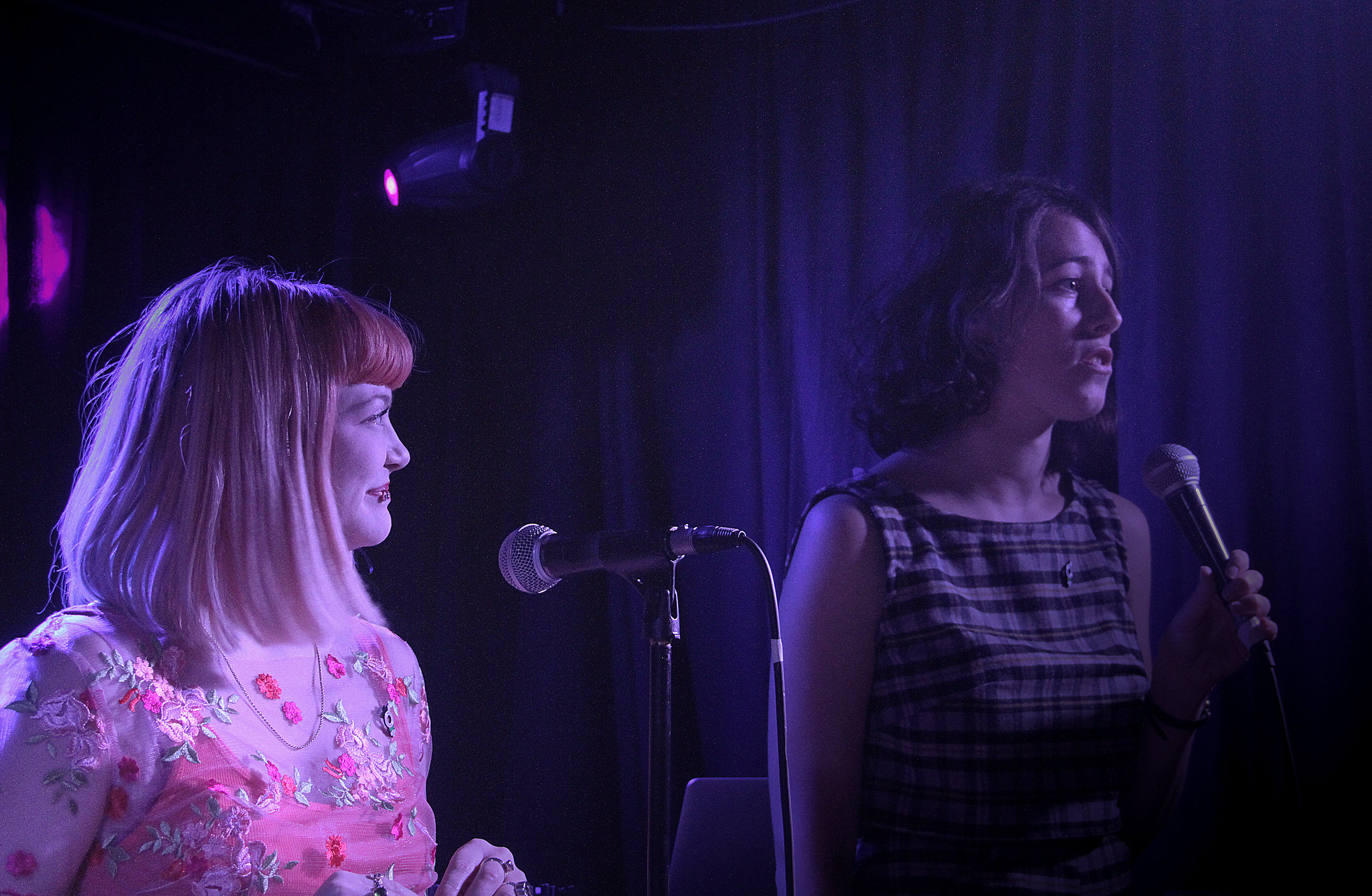 Louisa & Cecily take to the stage - photo by  Spilt Milk