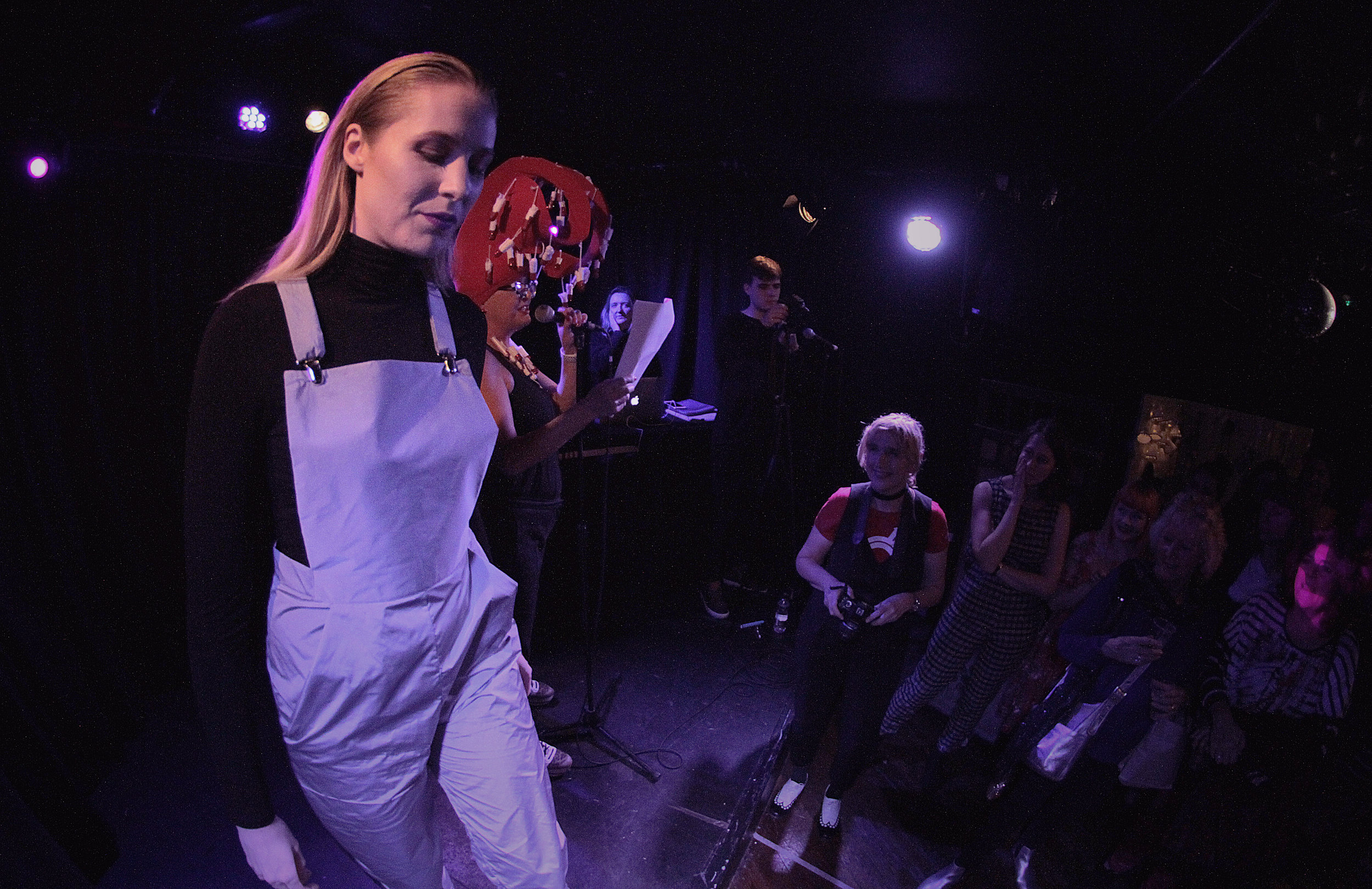 Dungarees by  The Emperor's Old Clothes  modelled by Katie - photo by  Spilt Milk