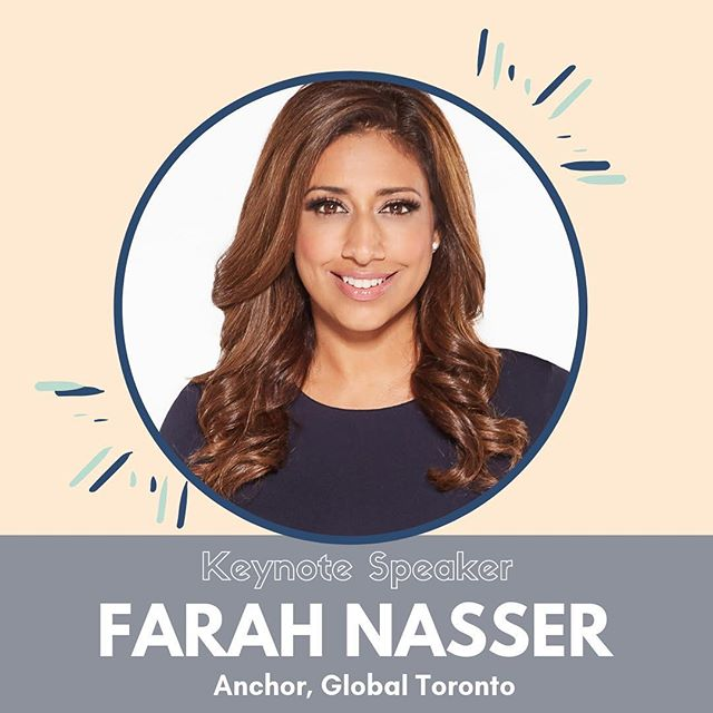 📢 Drumroll please....announcing our incredible Keynote speaker: Farah Nasser! We can't wait to have you, @farahnasserglobal! 👏🏽 - One of Toronto's most recognizable faces in news, Farah Nasser is an award-winning journalist, bringing extensive experience to her role as anchor on Global News at 5:30 and 6! Nasser's status as a trusted journalist has earned her the opportunity to moderate key political debates (including the 2018 Ontario  election, and an exclusive for the 2018 Toronto mayoral race). As a strong advocate for the community, and giving a voice to marginalized people, we're thrilled to have Farah join us on May 7th! Hit that link in our bio to join us in hearing her story, and why representation in media matters so much - tickets are available now! 👀🎉