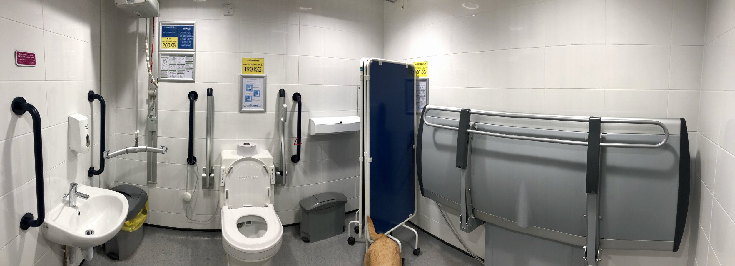 This photo, along with the 3 images further on in this post are from the Changing Places Toilet at the    Donington Service Station    on the M1 Motorway!