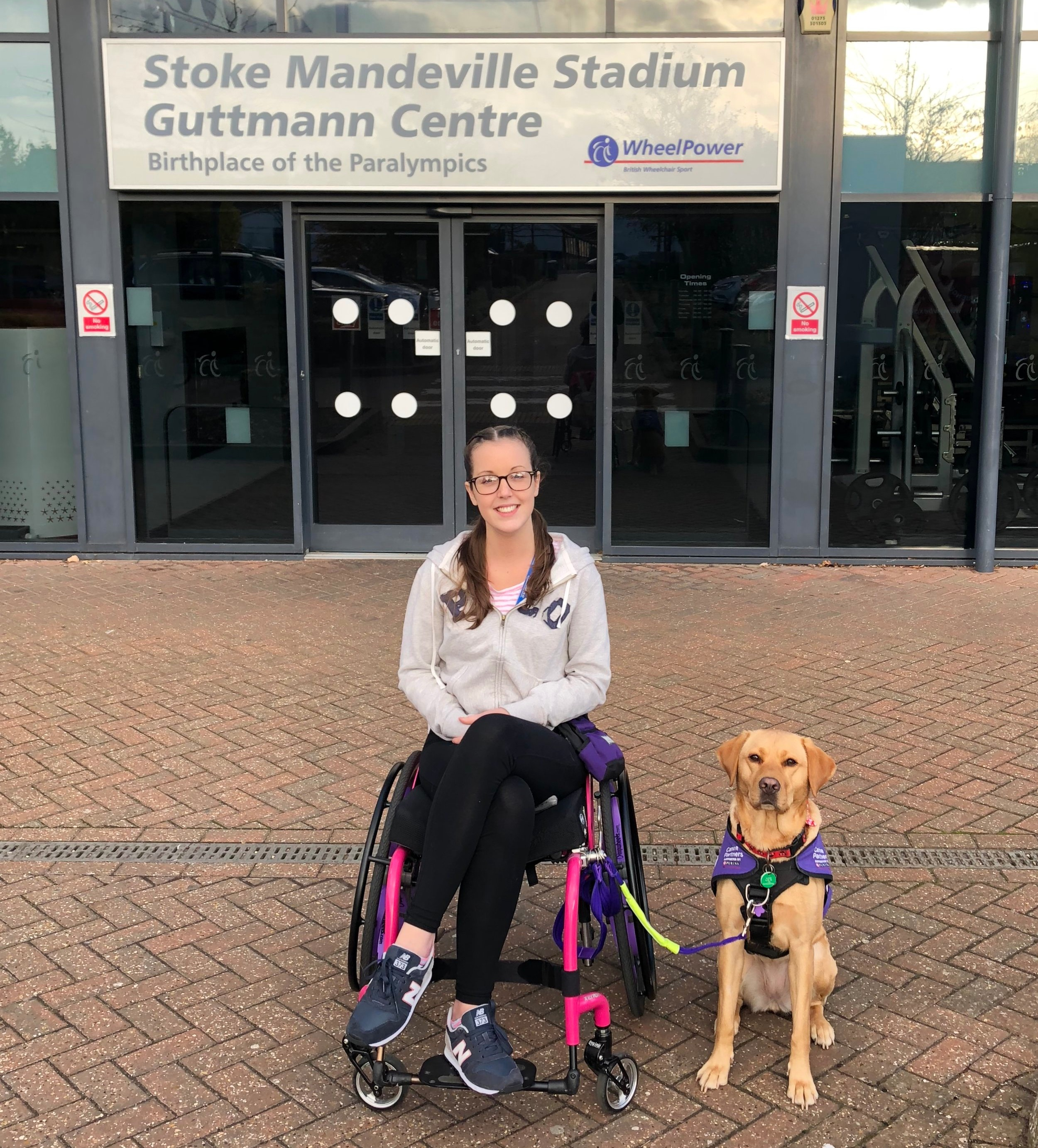 standing outside of stoke mandeville stadium after a fun day!