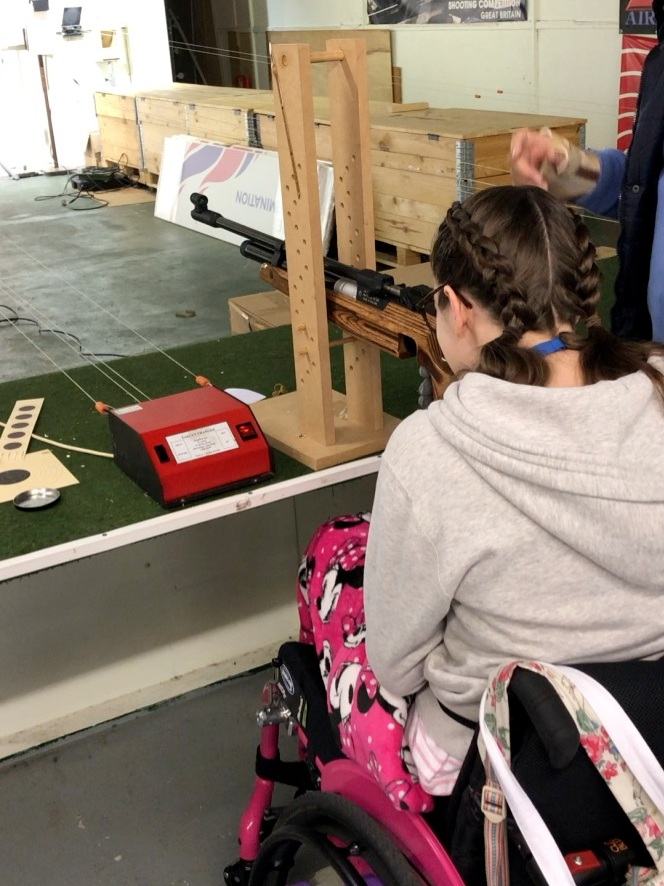 learning how to shoot at the wheelpower get active event!