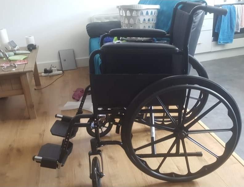 Drive Black Sport Self Propel Mobility Aid Mag Wheels Folding Steel Wheelchair.jpg