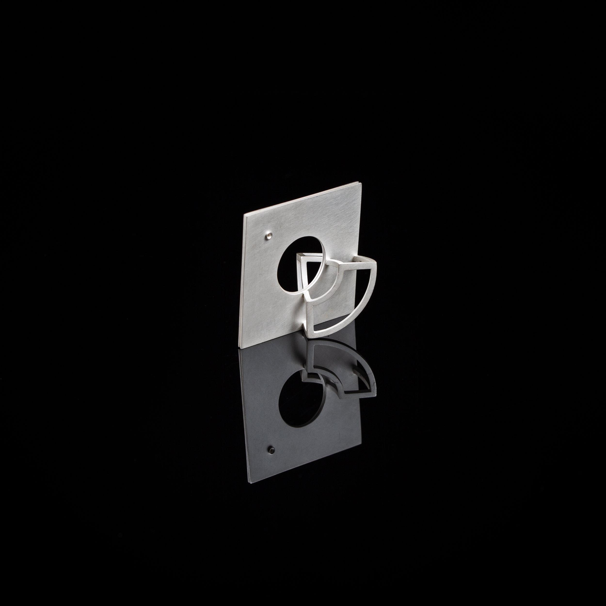Curious Constructions | Pendant   Sterling Silver |4.1 x 4.1 x 3 cm