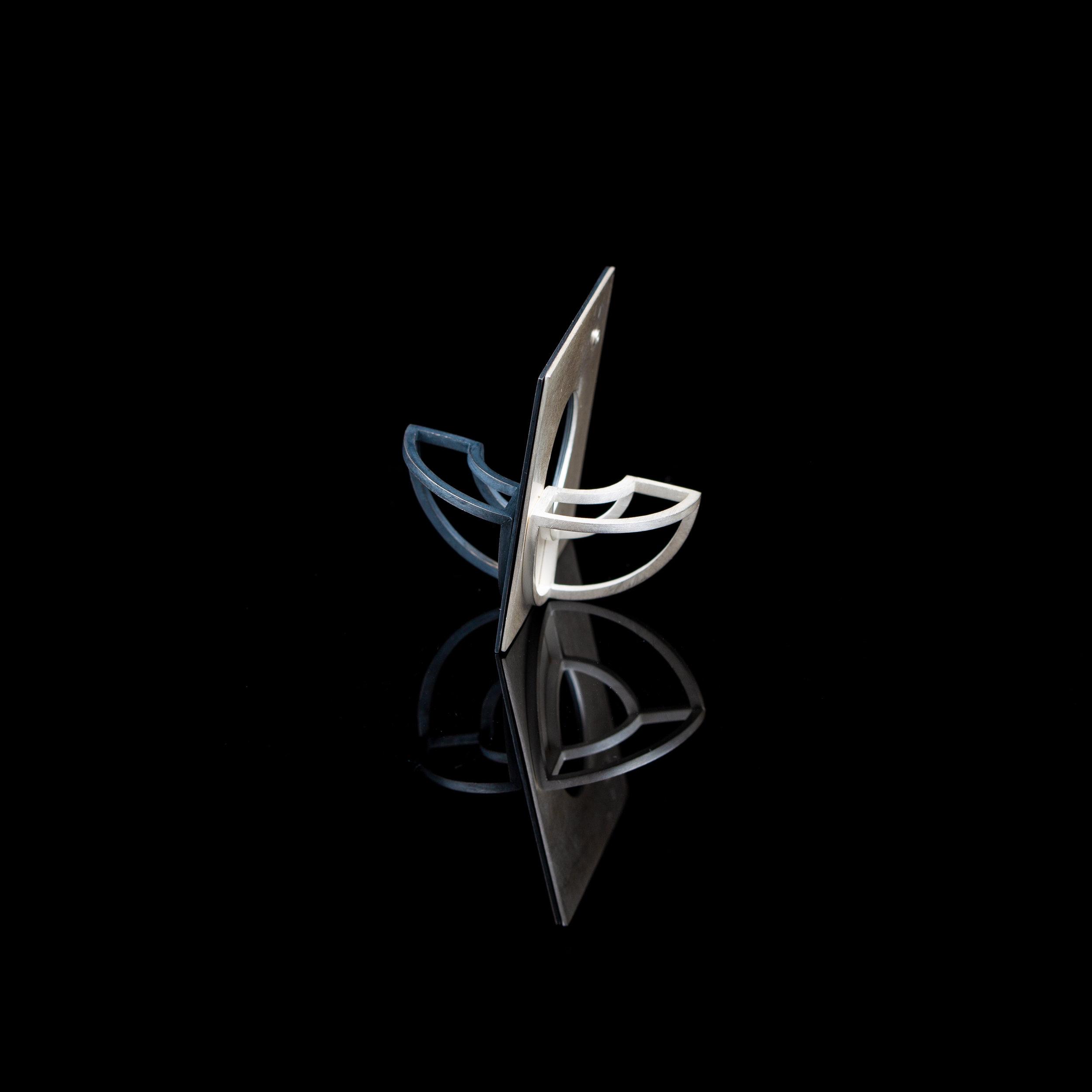 Curious Constructions | Pendant   Sterling Silver |4.3 x 4.3 x 5 cm