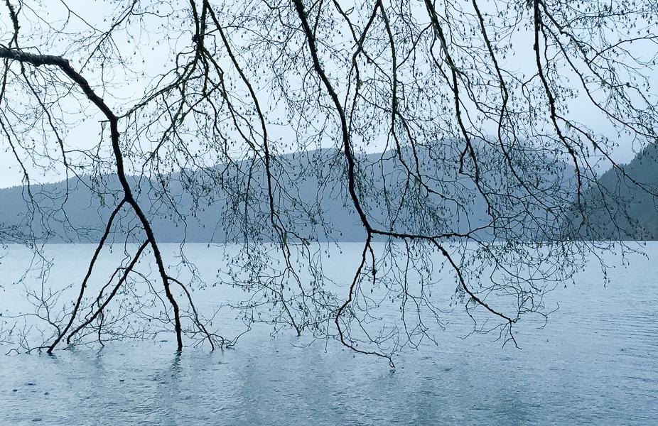 Crystal Lake, rain shower