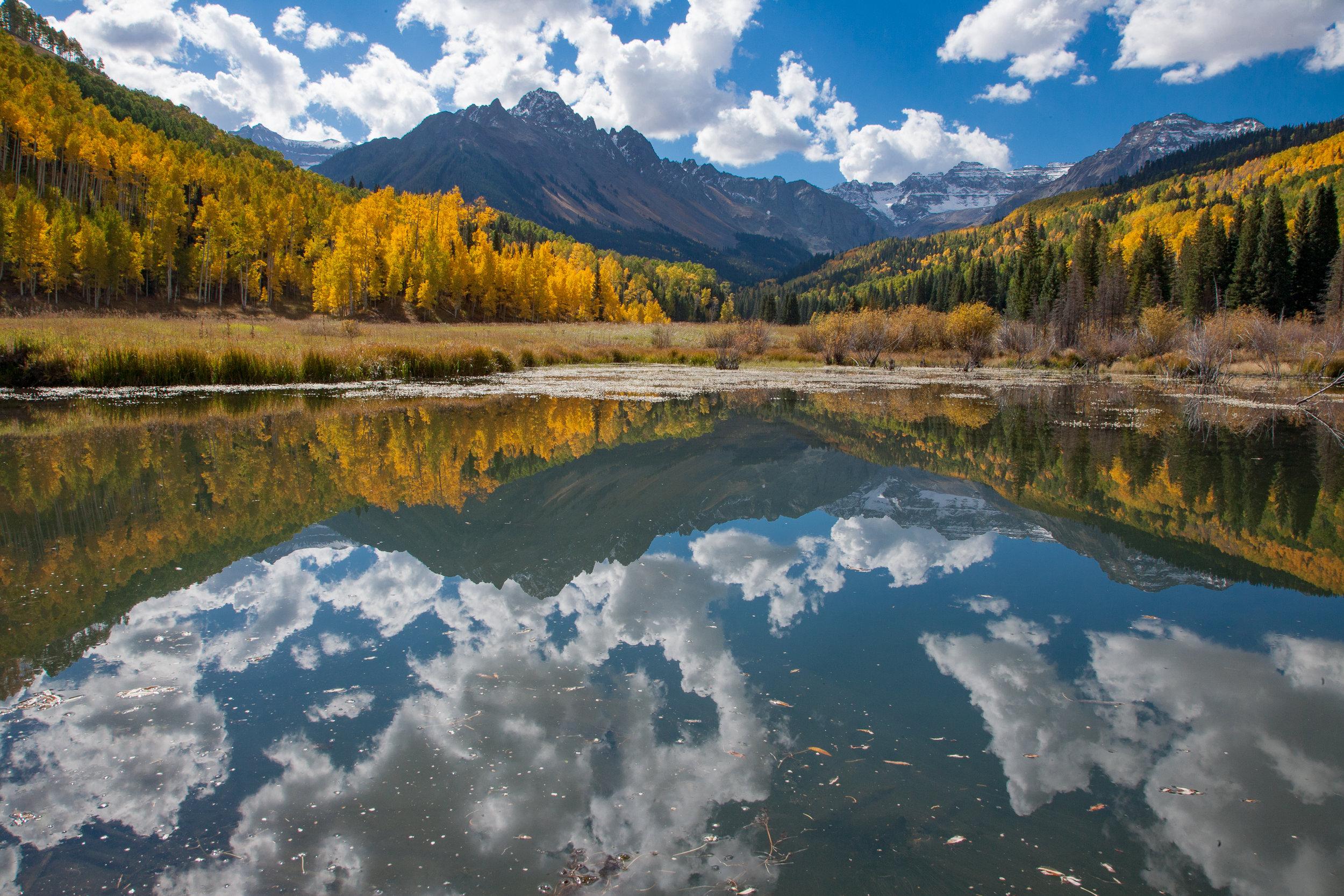 Mt. Sneffels & Bever Pond Lake © Bill Ellzey