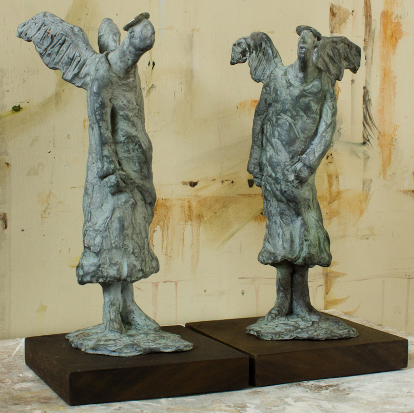 Angel Gossip (27x14cm each. Bronze.)