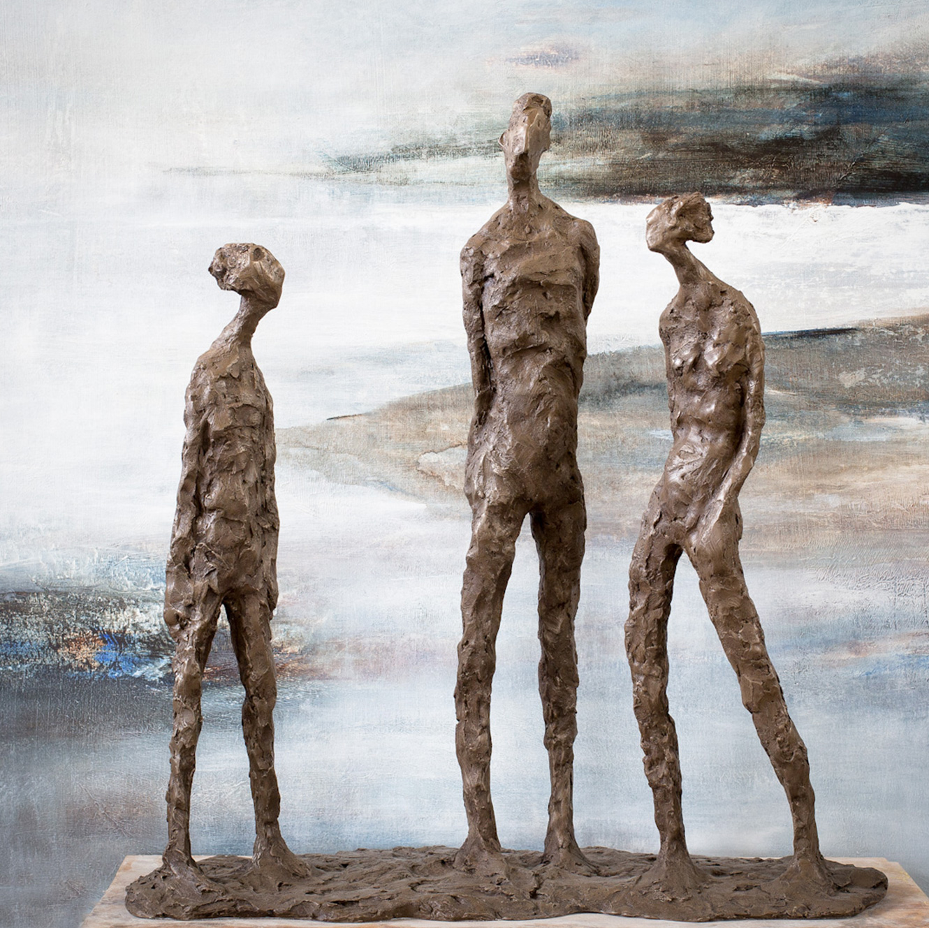 Shadow Talk (51x49cm. Bronze Resin.)