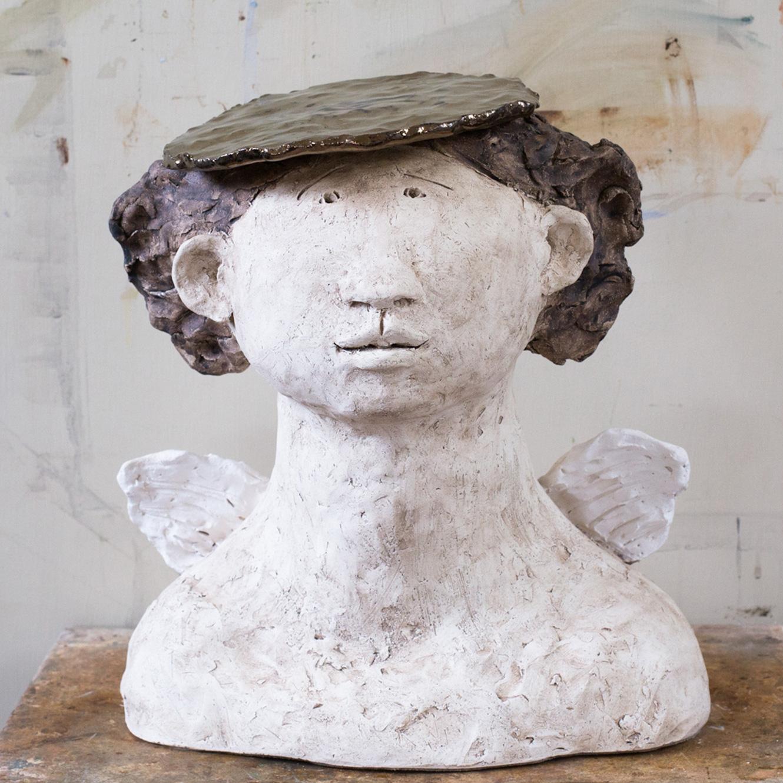 Angelica (30x30cm. Stoneware Clay.)