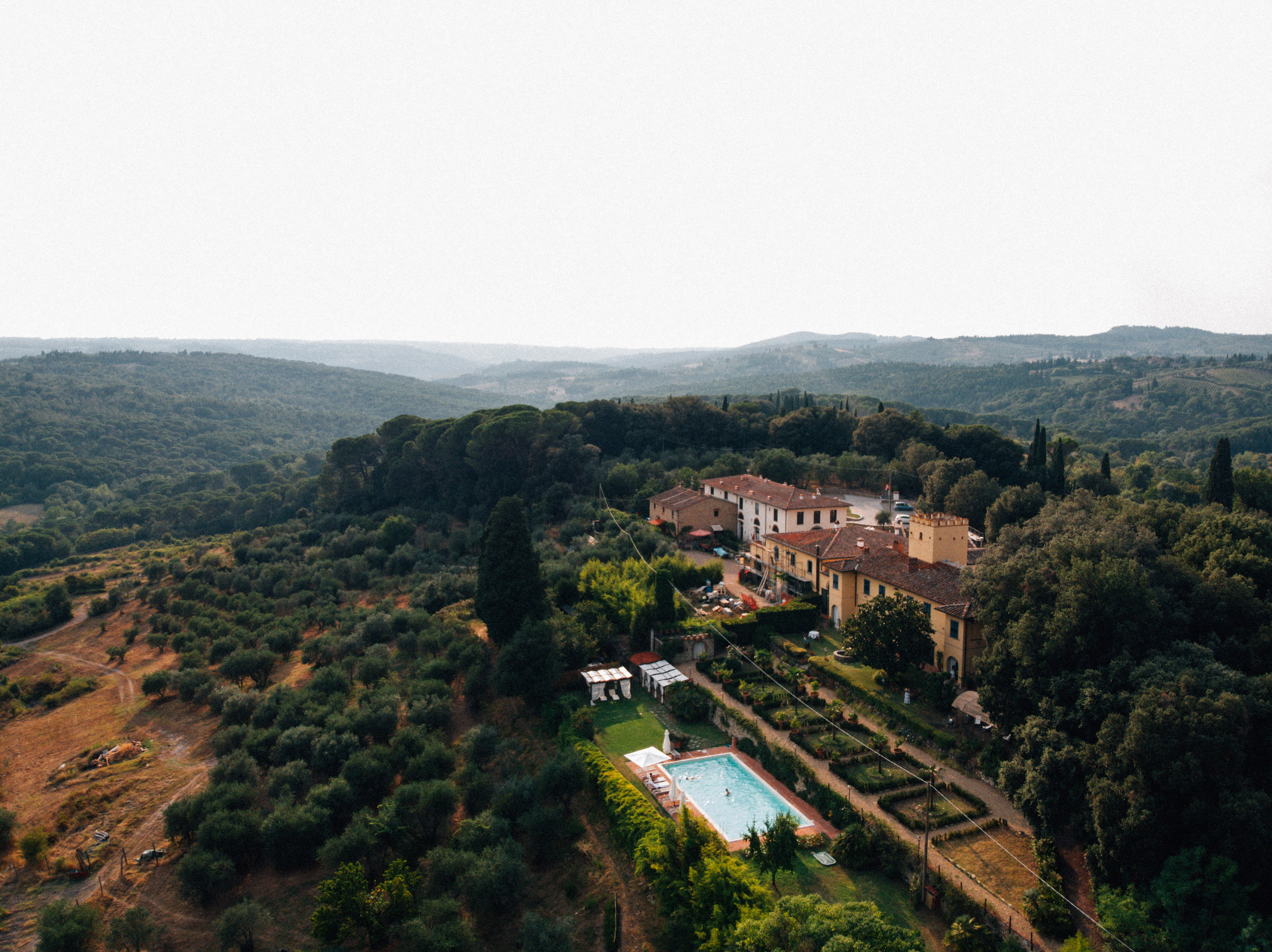 Villa il Leccio - We will be lodging, eating and workshopping in a villa from the 1200s in Strada in Chianti! How cool is that? The villa is located 19 miles away from Florence and 26 miles from Siena.Each ticket includes lodging for the nights of April 9th-11th, as well as lunch and dinner the 9th-11th and breakfast the 10th-12th. Checkout is scheduled on the morning of April 12th.