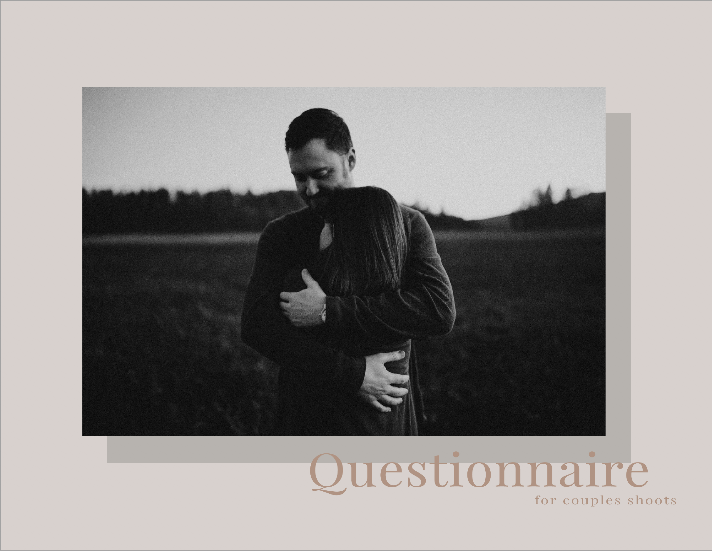 Seth Sanker - The questionnaire that Seth uses with his clients is the first step to teaching you how to understand better who your couples really are, in order to create those intimate shots he will be speaking about!