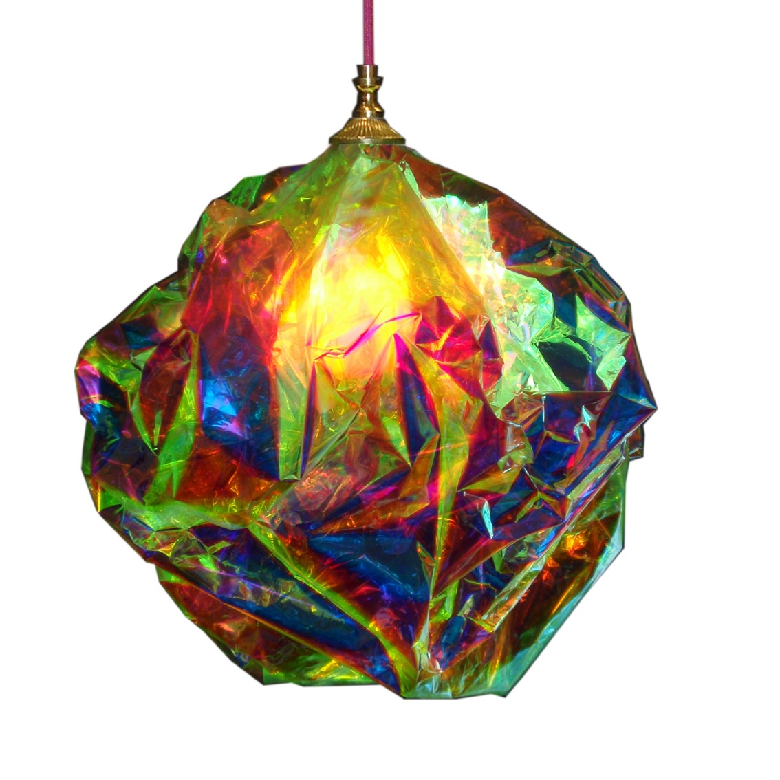 Up-cycled light by Maria