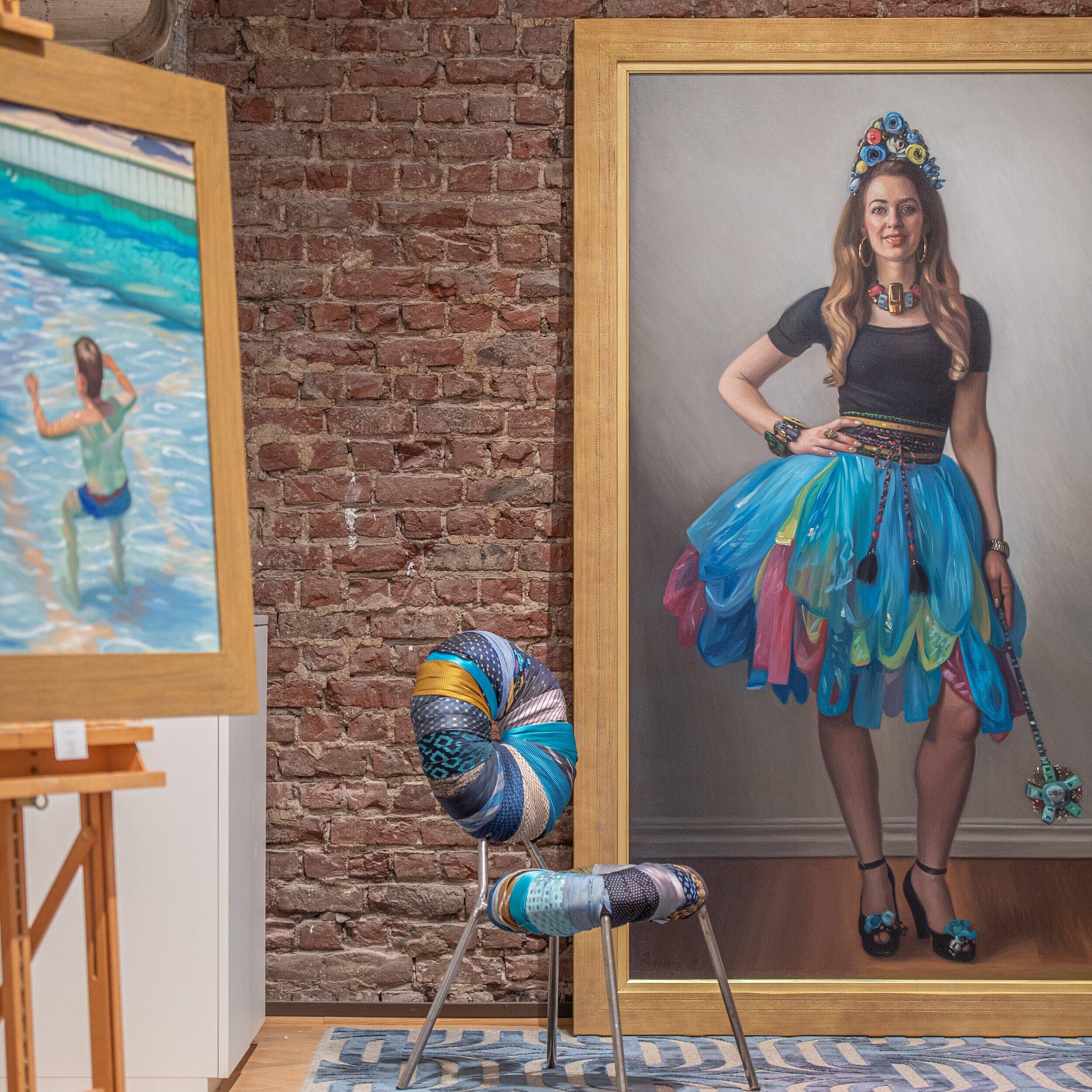 Maria Westerberg & artist Johan Patricny