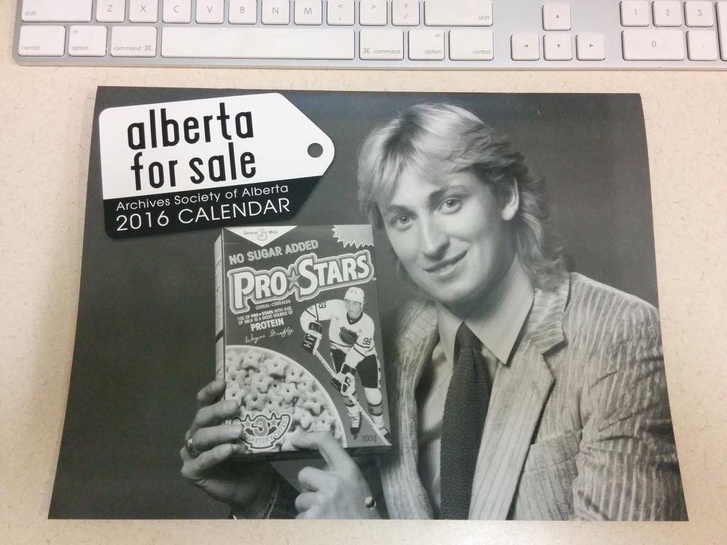 This beauty featuring a very 80s Wayne Gretzky belongs to the extensive photograph collection in our Victor Post fonds, which commemorates the work of a well-recognized photographer from St. Albert.