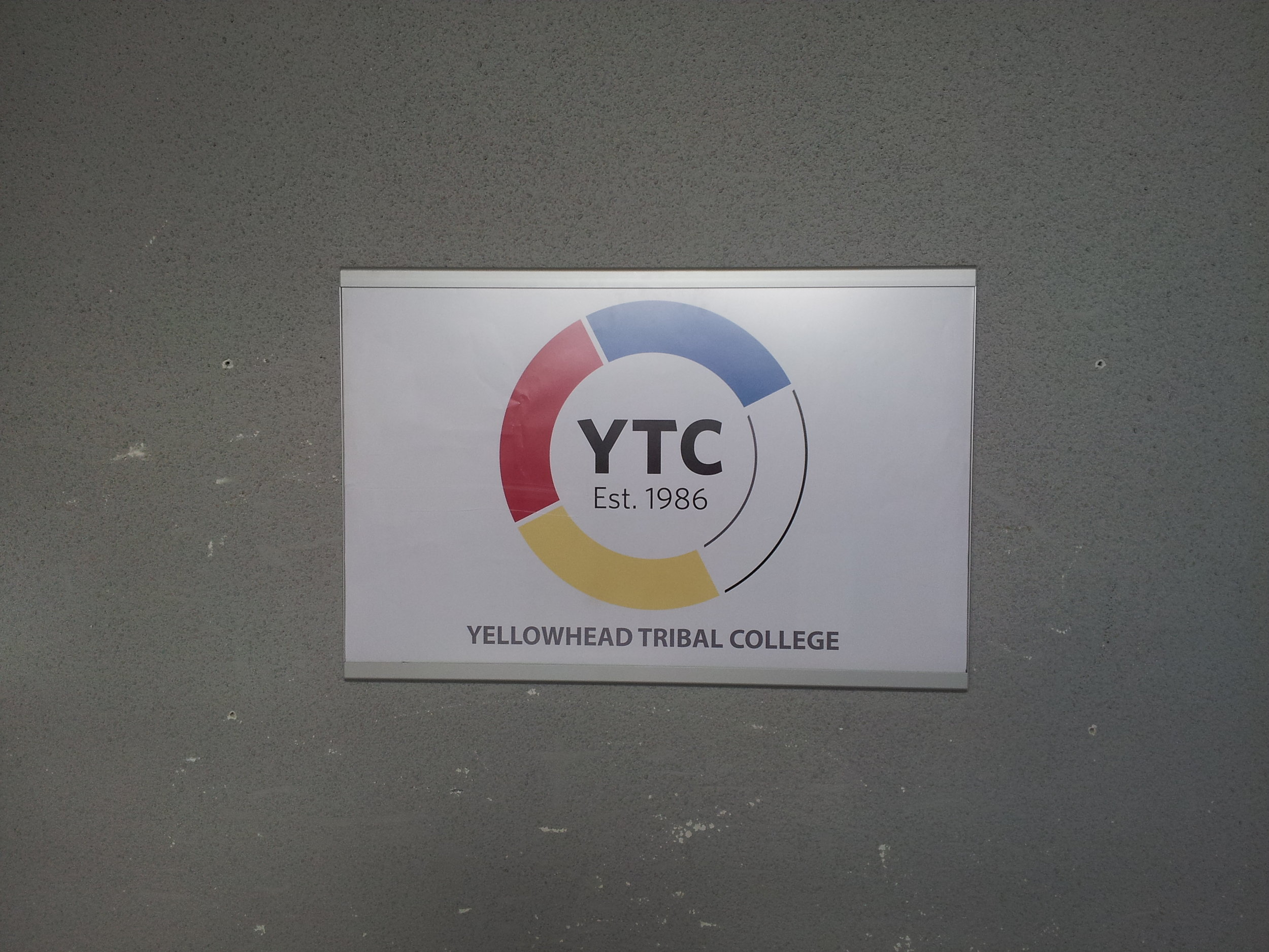 This is the YTC logo representing the 4 bands of the Yellowhead Tribal Council - Alexander, Alexis, O'Chiese, and Sunchild.